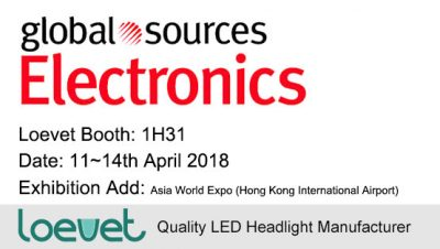 Loevet's LED headlight is attending Global Sources Consumer Electronics Fair